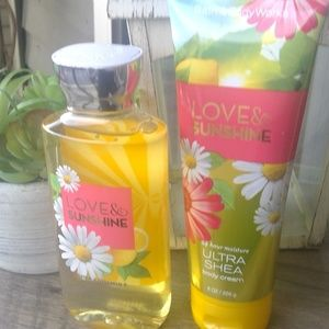 Bath and Body Works Love and Sunshine Wash & Cream